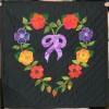 Flower heart quilt